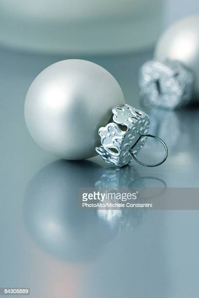 Small white Christmas tree ornaments