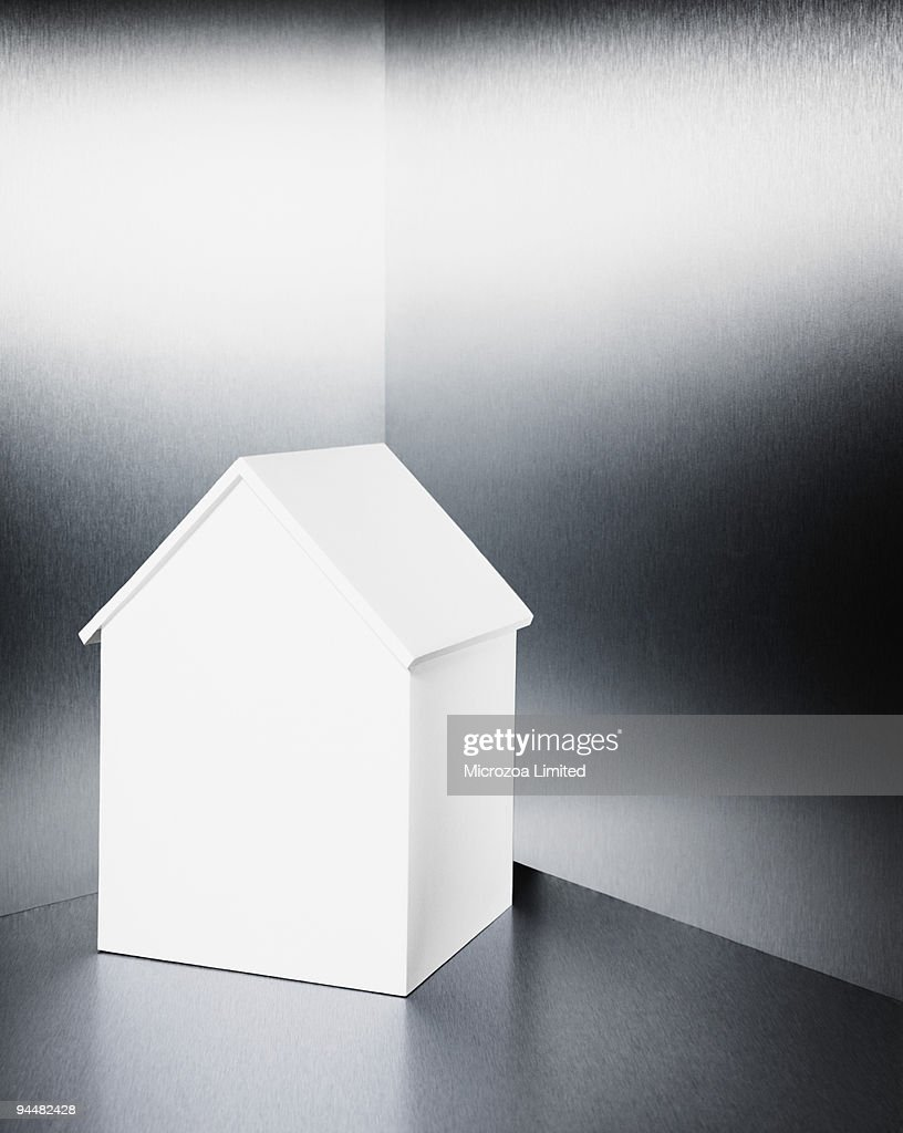 Small white house : Stock Photo