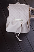 http://www.istockphoto.com/photo/small-white-leather-female-backpack-gm826638778-134427925