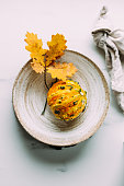 small yellow pumpkin marble background with
