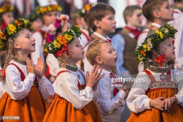 Smaller dancers in Song Festival concert