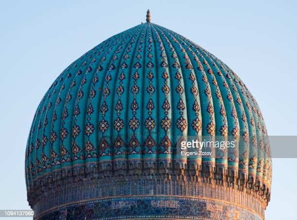 smaller (northern) dome of the mausoleum of khoja ahmed yasawi in turkistan city, kazakhstan - カザフスタン ストックフォトと画像