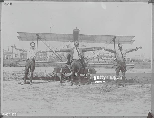 Smallest successful biplane in the worldJailBait is the smallest successful biplane in the world Left to right spanning the wingspread are Jim Hester...