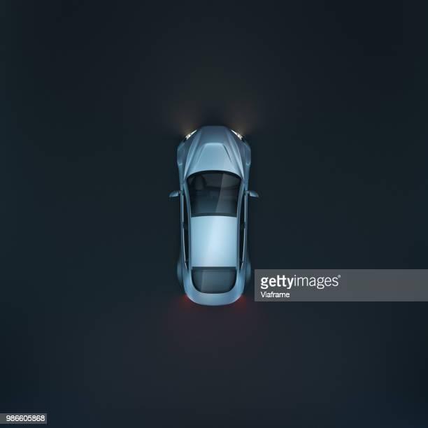 smart car rs topview - quadratisch komposition stock-fotos und bilder