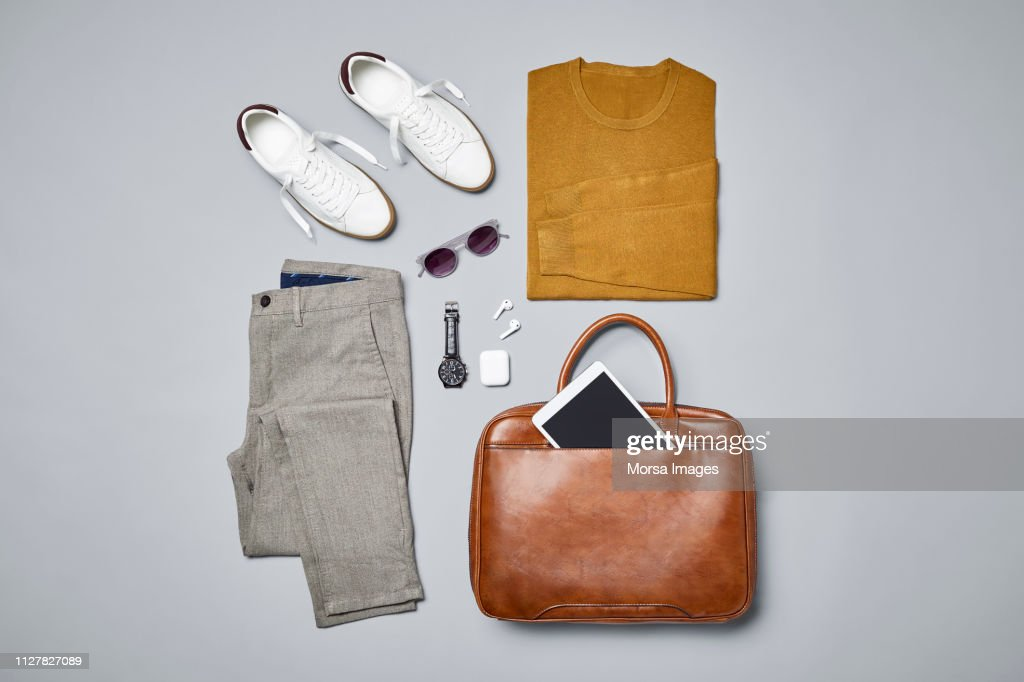 Smart casual with technologies and accessories : ストックフォト