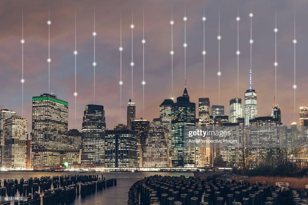 Smart City of Manhattan, New York : Stock Photo