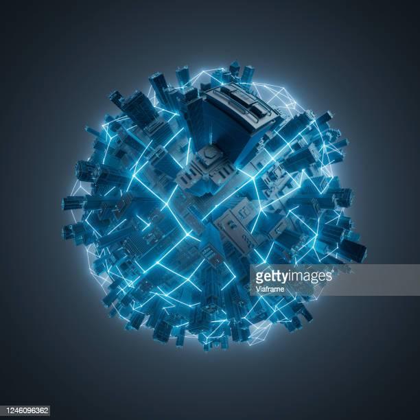 Smart City Planet - dark blue
