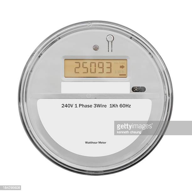 Smart Electricity Meter - Isolated on White