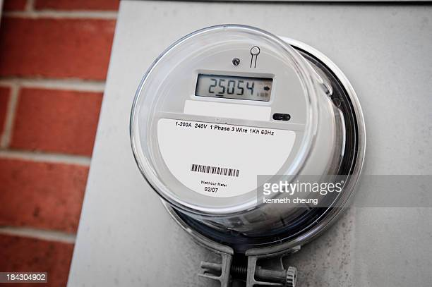smart energy meter - intelligence stock pictures, royalty-free photos & images