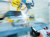 smart factory industry concept from robotic