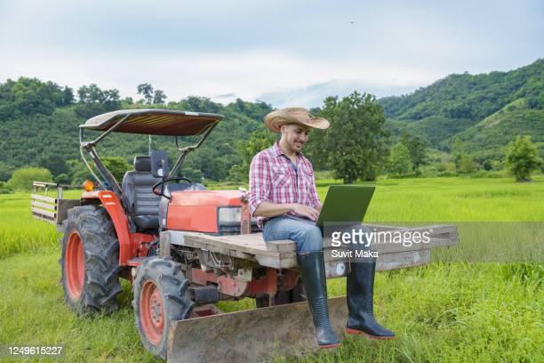 smart farming agriculture concept. - スマート農業 ストックフォトと画像