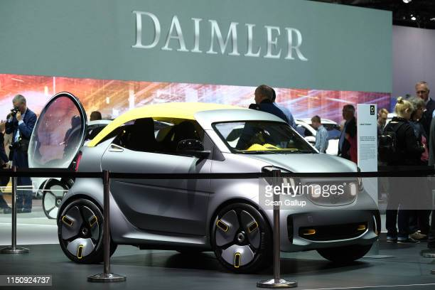 Smart forease stands on display at the annual Daimler AG shareholders meeting on May 22 2019 in Berlin Germany Daimler has struggled with falling...
