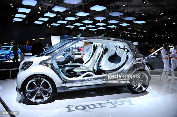 Smart fourjoy is presented during 92nd Brussels Motor Show , from 16 to 26 January 2014, at Brussels Expo at the Heysel in Brussels, Belgium, January...