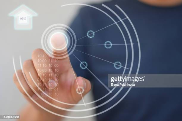 smart home controls - touch screen stock pictures, royalty-free photos & images
