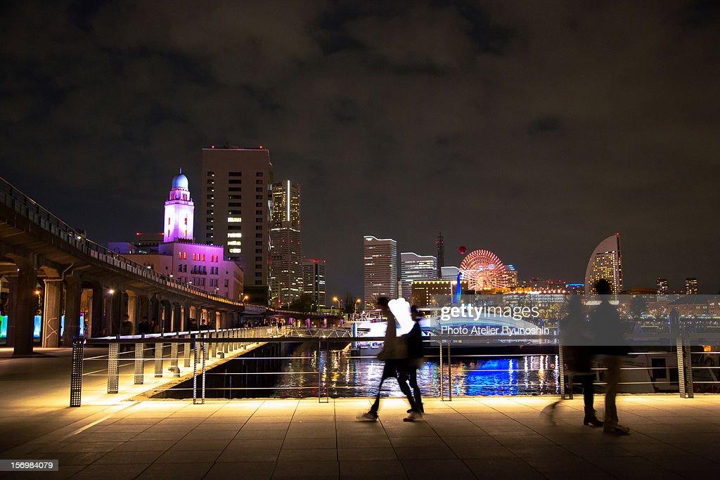 Smart illumination Yokohama : Bildbanksbilder