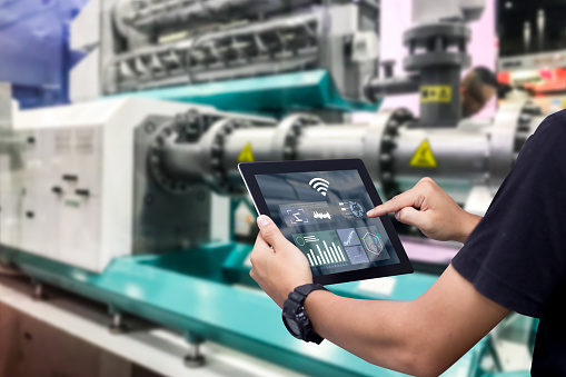 Smart industry control concept. 1145886786