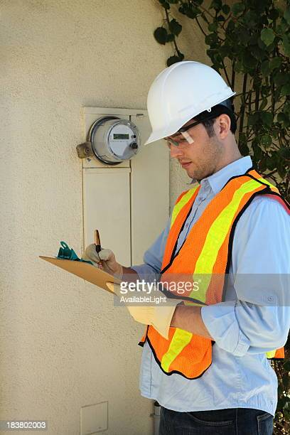 Smart Meter Installer Marks Clipboard