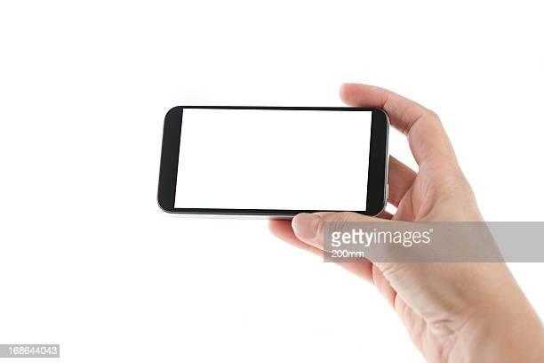 スマートフォンの空白ページ
