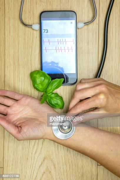 smart phone doctor.  medical concept - hypochondria stock photos and pictures