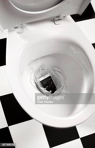 Smart phone dropped in toilet