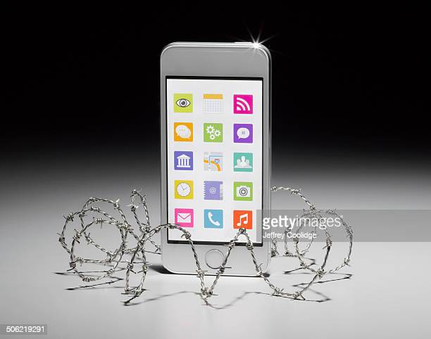 Smart Phone in Barbwire