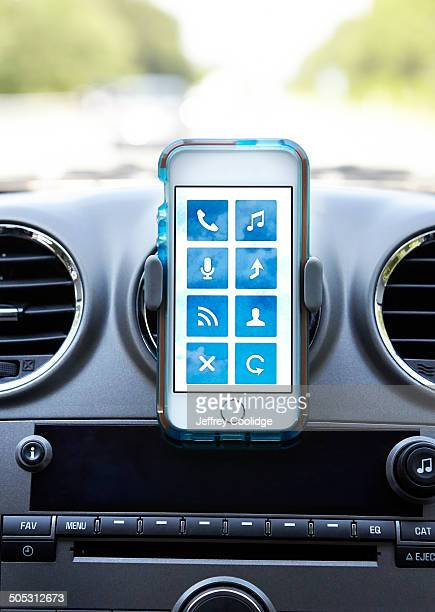 Smart Phone in Car with Apps