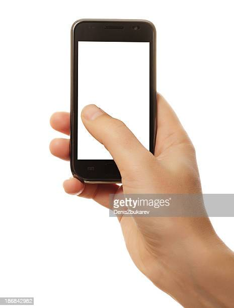 Teléfono inteligente en mano
