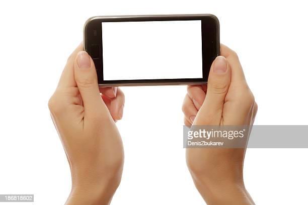 smart phone in hands
