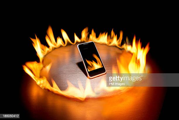 Smart phone in ring of fire