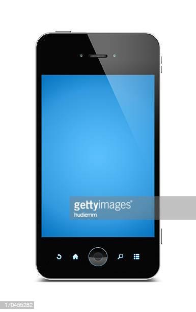 Téléphone intelligent (Tracé de détourage) isolé sur fond blanc