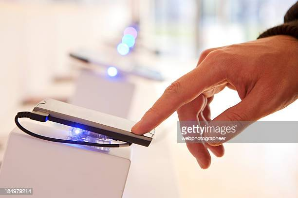 smart phone - electronics store stock photos and pictures