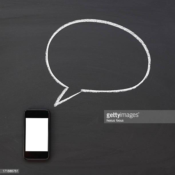 Smart phone with speech bubble
