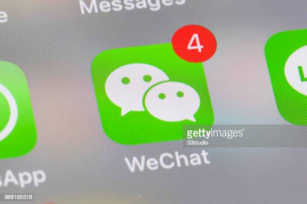 A smart phone with the icons for the social networking apps WeChat and others seen on the screen on June 29 2018 in Hong Kong Hong Kong Tips for...
