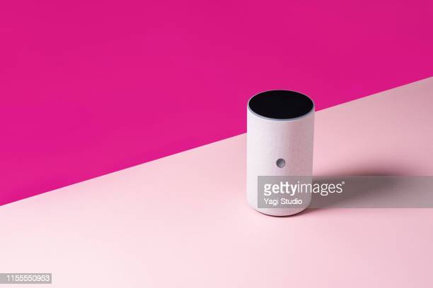 smart speaker in studio - single object stock pictures, royalty-free photos & images