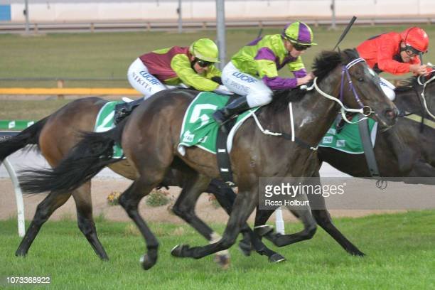 Smart Talk ridden by Jessica Payne wins the TAB Multiplier Class 1 Handicap at Cranbourne Racecourse on December 15 2018 in Cranbourne Australia