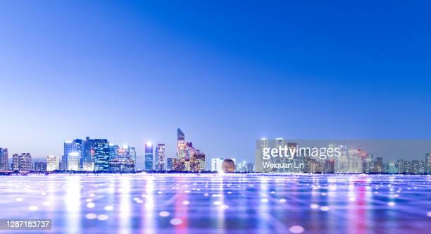 smart technology city - hangzhou stock pictures, royalty-free photos & images