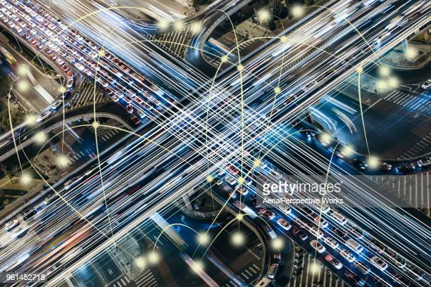 smart traffic - computer network stock pictures, royalty-free photos & images
