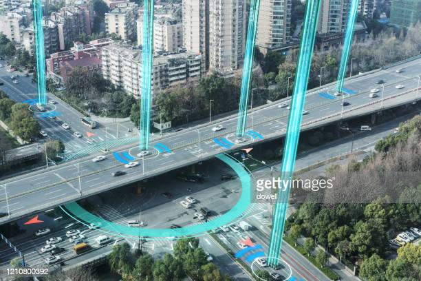 smart transportation with highway - land vehicle stock pictures, royalty-free photos & images