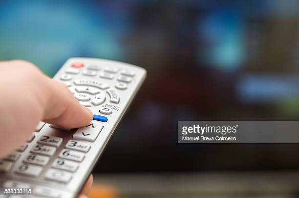 smart tv - remote controlled stock photos and pictures