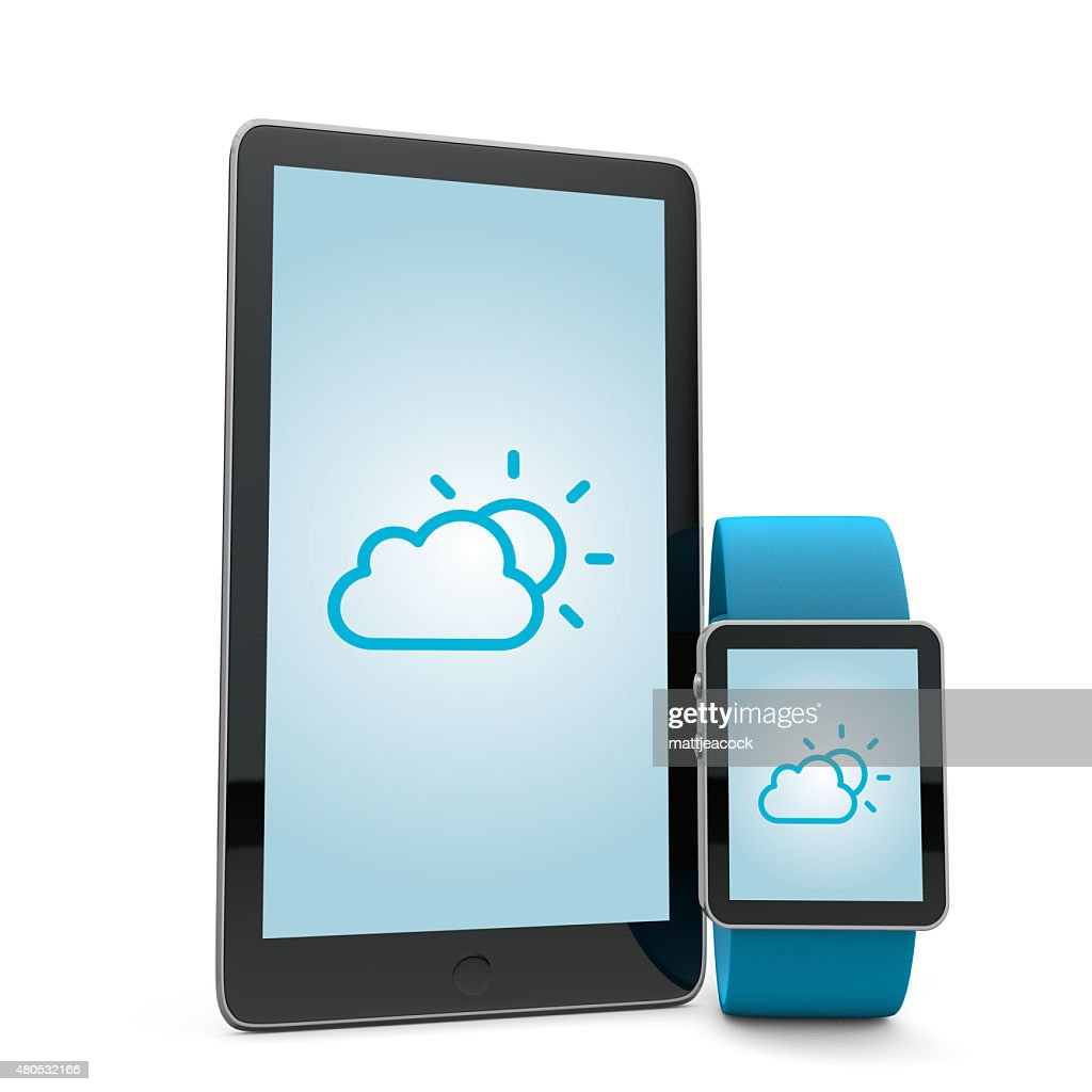 Smart watch and phone : Stock Photo