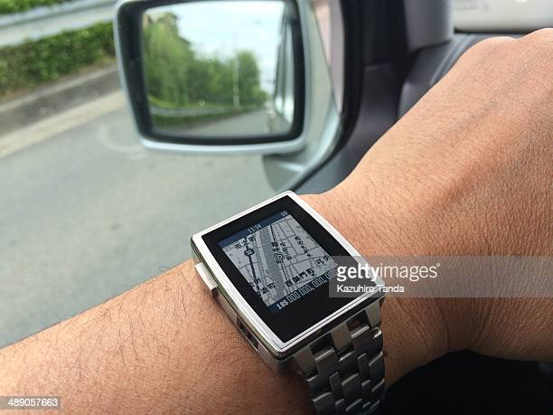 Smart watch indicate the map