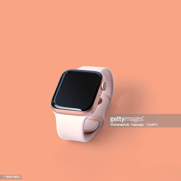 smart watch over beige background - wearable computer stock pictures, royalty-free photos & images