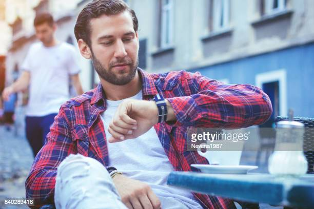 smart watch - impatient stock pictures, royalty-free photos & images