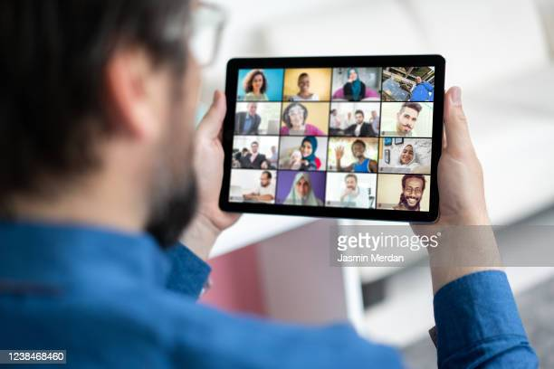 smart working and video conference - テレビ会議 ストックフォトと画像