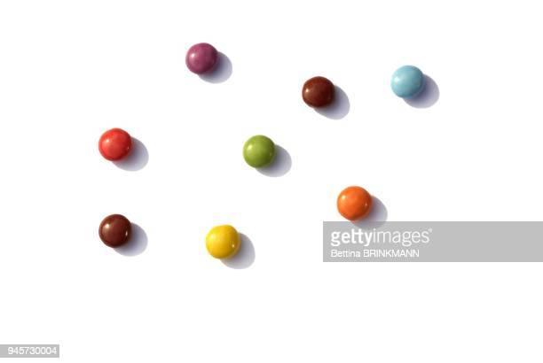smarties de plusieurs couleurs