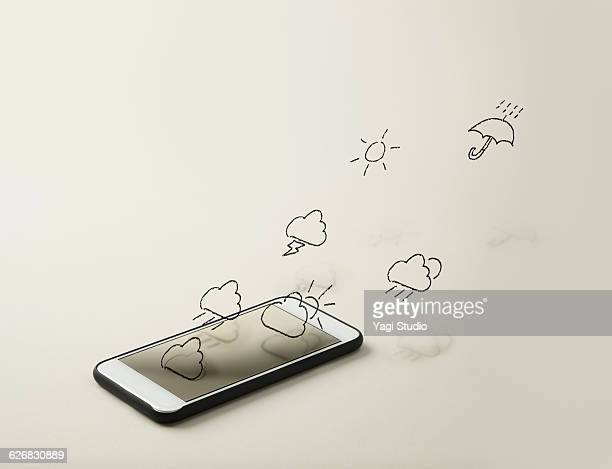 Smartphone and weather forecast