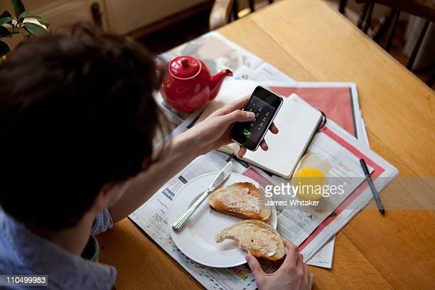 Smartphone at Breakfast