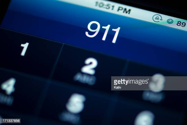smartphone call to 911 - emergencies and disasters stock pictures, royalty-free photos & images
