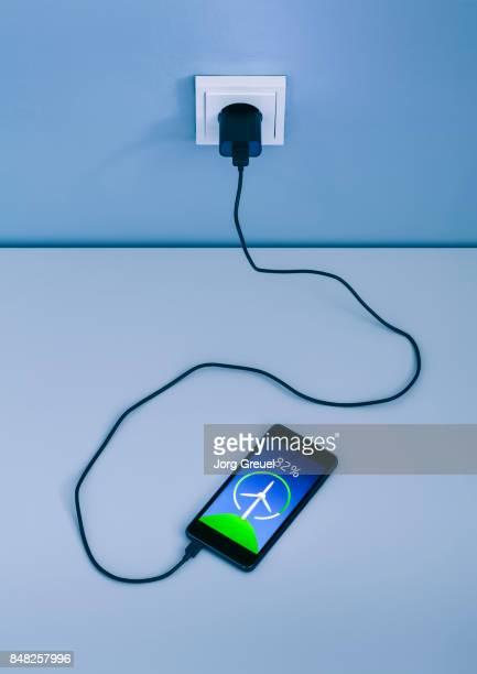 Smartphone charging with renewable energy