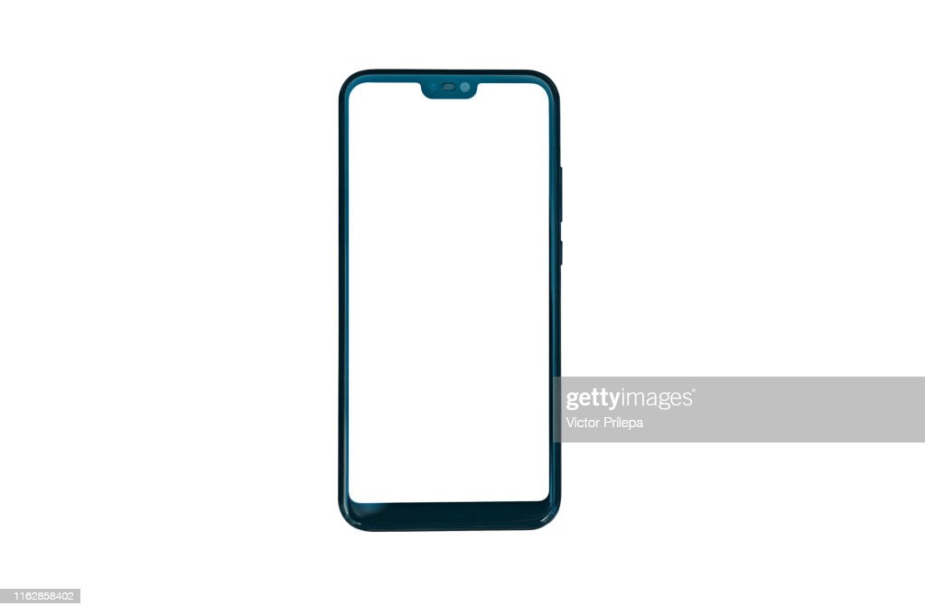 Smartphone Isolate Closeup, On a white background. : Stock Photo